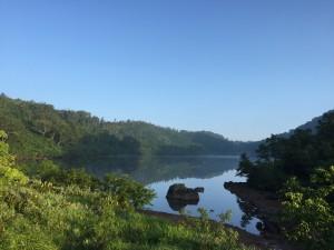 朝の風吹大池