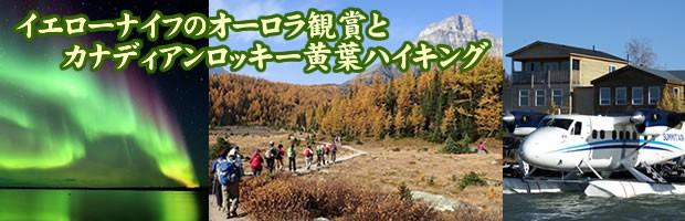 イエローナイフのオーロラ観賞とカナディアンロッキー黄葉ハイキング